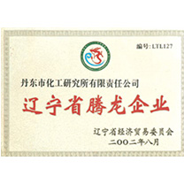 Liaoning Province Dragon Enterprise Certificate